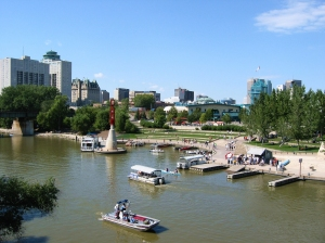 The forks in downtown Winnipeg