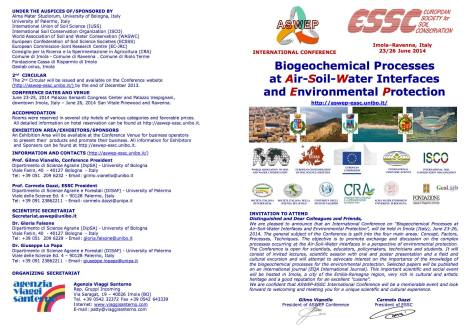 Biogeochemical Processes at Air-Soil-Water Interfaces and Environmental Protection